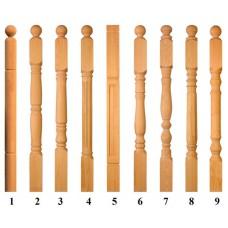 Столб начальный лиственница ширина 100